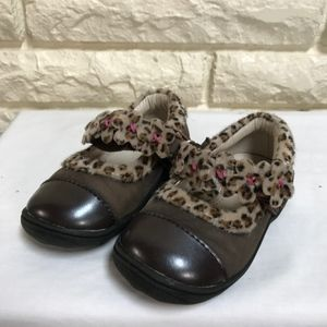 UMI leopard print baby Mary Janes shoes 20 US 5